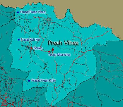 Preah Vihear Map